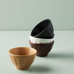 Mini Matte Latte Bowls, Set of 4 | Anthropologie (US)