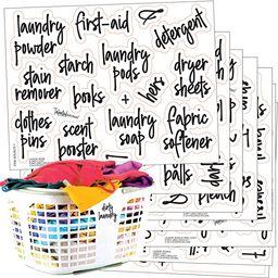 Talented Kitchen 141 Laundry Room & Linens Closet Organization Labels. Script, Preprinted Sticker... | Amazon (US)