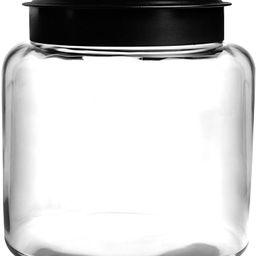 Anchor Hocking 1.5 Gallon Montana Glass Jar with Fresh Seal Lid, Black Metal, Set of 1 | Amazon (US)