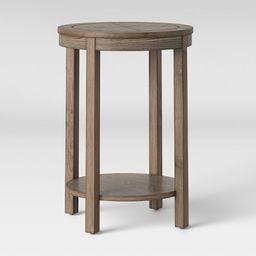 Eastford V Pattern Side Table Round Brown - Threshold™ | Target