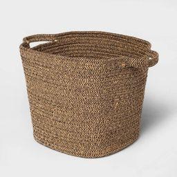 Large Jute Rope Basket Black/Natural - Threshold™ | Target