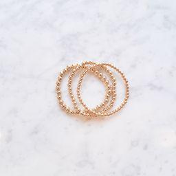 Graduated Beaded Bracelet Set | Golden Thread