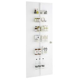 """Elfa White 80"""" Over the Door Rack Solution 