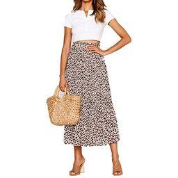 Multitrust Women Leopard Print High Waist Wrap Midi Skirt Ladies Party Cocktail Club Dress | Walmart (US)