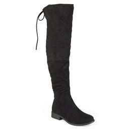 Brinley Co. Women's Wide Calf Faux Suede Over-the-knee Boots | Walmart (US)