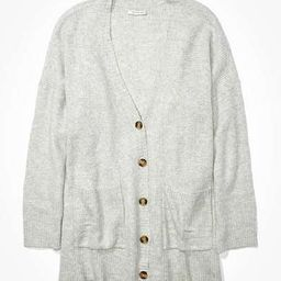 AE Oversized Dreamspun Button Up Cardigan | American Eagle Outfitters (US & CA)