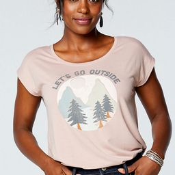 Pink Let's Go Outside Graphic Tee   Maurices