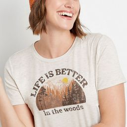 Oatmeal Better In The Woods Graphic Tee   Maurices