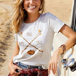 Happy Fall Y'all Graphic Tee   Maurices