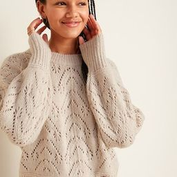 Cozy Pointelle-Knit Crew-Neck Sweater for Women | Old Navy (CA)