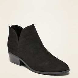 Faux-Suede V-Shaped Ankle Booties for Women | Old Navy (CA)