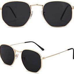 SOJOS Small Square Polarized Sunglasses for Men and Women Polygon Mirrored Lens SJ1072   Amazon (US)