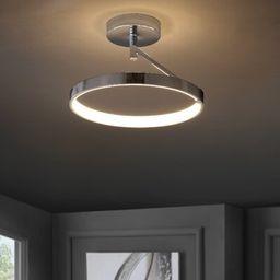 "Cresson 1 - Light 17.5"" Unique/Statement Circle LED Semi Flush Mount Orren Ellis | Wayfair North America"