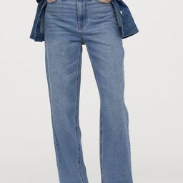 Loose Straight High Jeans   H&M (US)
