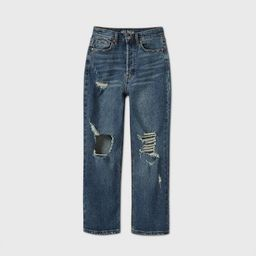 Women's High-Rise Distressed Straight Jeans - Wild Fable™ Medium Wash | Target