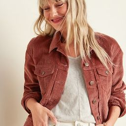 Cropped Corduroy Jacket for Women | Old Navy (CA)