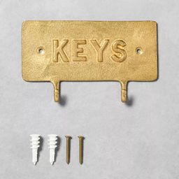 'Keys' Brass Hook Entryway Sign - Hearth & Hand™ with Magnolia   Target