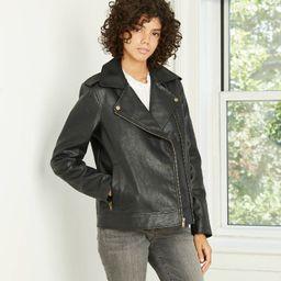 Women's Classic Moto Jacket - Universal Thread™ Black | Target