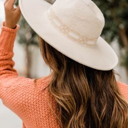 Keep Me Holding On Felt Hat Beige   The Pink Lily Boutique