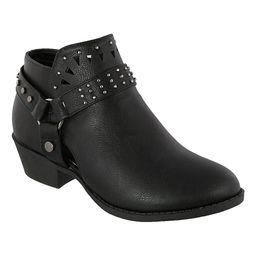 TOP MODA Women's Casual boots Black - Black Geometric Karli Bootie - Women | Zulily