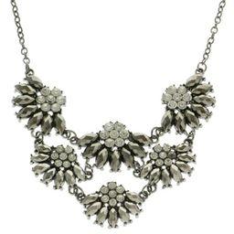 Mi Amore Adjustable Fashion-Necklace Dark-Silver | Walmart (US)