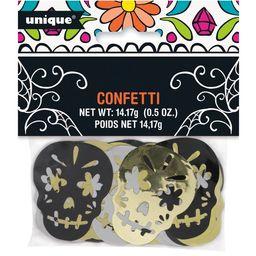 Gold, Silver, & Black Skull Day of the Dead Foil Confetti, 0.5oz   Walmart (US)