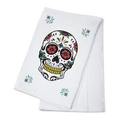 Day of the Dead - Sugar Skull & Flower Pattern (White & Magenta) - Lantern Press Artwork (100% Co...   Walmart (US)