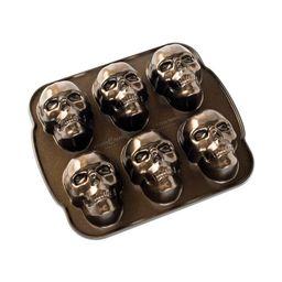 """Nordic Ware Haunted Skull Cakelet Pan, Cast Aluminum, Lifetime Warranty, 5 Cup Capacity, 12.25"""" X...   Walmart (US)"""