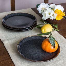 Better Homes & Gardens 16-Piece Burns Speckled Dinnerware Set, Black   Walmart (US)