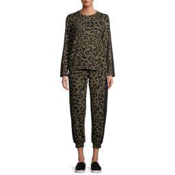 Como Blu - Como Blu Women's Athleisure Leopard Set - Walmart.com | Walmart (US)
