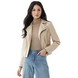Scoop - Scoop Women's Faux Leather Moto Jacket - Walmart.com | Walmart (US)