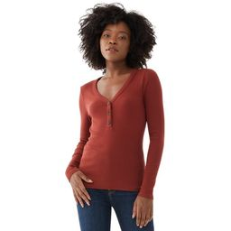Free Assembly - Free Assembly Women's Long Sleeve Ribbed Henley Top - Walmart.com   Walmart (US)