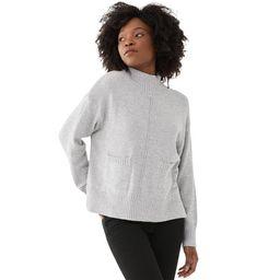 Free Assembly - Free Assembly Women's Boxy Mock Neck Sweater - Walmart.com   Walmart (US)