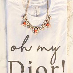Oh my Dior/ vintage feel/ unisex fit women's tee   Etsy (US)