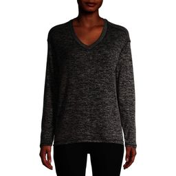Time and Tru Women's V-Neck Hacci T-Shirt   Walmart (US)