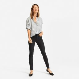 Women's Authentic Stretch Mid-Rise Skinny by Everlane in Black, Size 29   Everlane