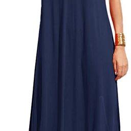 Vestido Verdusa largo, sin mangas, cuello en V profundo, para verano, playa, para mujer | Amazon (US)