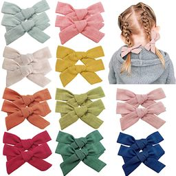 20 PCS Baby Girls Hair Bows Clips Hair Barrettes Accessory for Babies Infant Toddlers Kids in Pai...   Amazon (US)