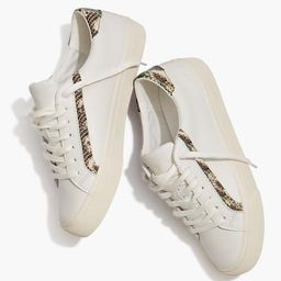 Sidewalk Low-Top Sneakers in Snake Embossed Leather | Madewell