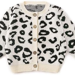 Simplee kids Baby Sweater Cable-Knit Baby Cardigan Coat for Autumn Fall 3M-3T | Amazon (US)