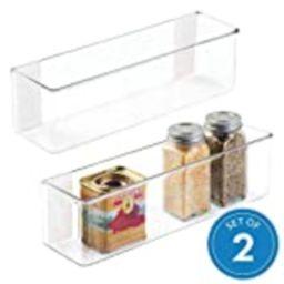 iDesign AFFIXX Linus Mount Organizer Rack, Stick-On Wall Shelf for Kitchen, Bathroom, Office, Medium | Amazon (US)