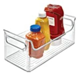 iDesign Fridge Plastic Storage Organizer Bin with Handles, Clear Container for Food, Drinks, Produce | Amazon (US)