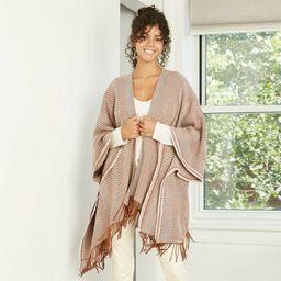 Women's Herringbone Ruana Kimono Jacket - Universal Thread™ Brown   Target