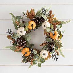 Navy Berry and Pumpkin Mix Wreath   Kirkland's Home