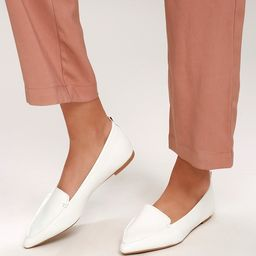 Emmy White Pointed Loafers | Lulus (US)