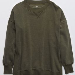 Aerie Good Vibes Oversized Sweatshirt Women's Olive Daze M   American Eagle Outfitters (US & CA)