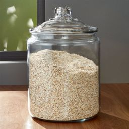 Heritage Hill 256 oz. Glass Jar with Lid | Crate & Barrel