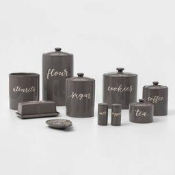 9pc Stoneware Kitchen Canister Set Gray - Threshold™ | Target