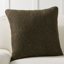 """Thermal Knit Sherpa Back Pillow Cover, 24 x 24"""""""", Olive 