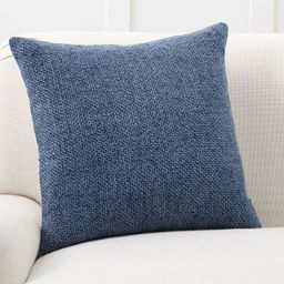 """Faye Linen Textured Pillow Cover, 20 x 20"""""""", Stormy Blue 